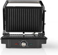 Nedis Kompakt Grill | 1600 W | Aluminium, KAGR120SR