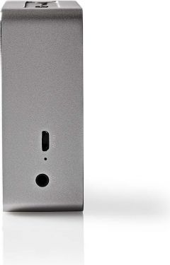 Nedis Bluetooth®-højttaler   15 W   Metaludformet design   Metalgrå, SPBT1002GY
