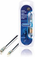 Bandridge, Bandridge Stereo Audio Extension Cable 3.5 mm Male - 3.5 mm Female 1.00 m Blue, BAL3601
