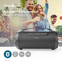 Nedis Party Boombox | 6 Hours Playtime | Bluetooth® | TWS | Carrying Strap | Black, SPBB305BK