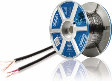 Bandridge Speaker Cable on Reel 2x 0.14 mm² 100 m Black, LC3216