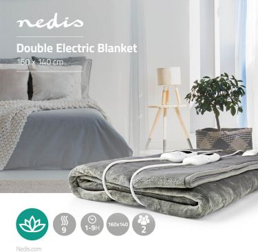 Nedis Electric Blanket | Under-Blanket | 160 x 140 cm | 9 Heat Settings | Indicator Light | Overheat