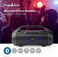 Nedis Party Boombox | 9 Hours Playtime | Bluetooth® | TWS | Party Lights | Black, SPBB310BK