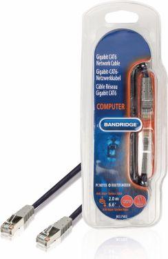 Bandridge CAT6 F/UTP Network Cable RJ45 (8P8C) Male - RJ45 (8P8C) Male 2.00 m Blue, BCL7502