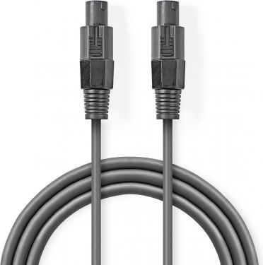 Nedis Speaker Cable 1.5 mm² | Speaker 2-Pin Female - Speaker 2-Pin Female | 5.0 m | Grey, COTT16000G