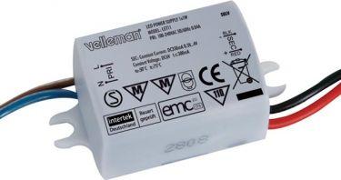 """<span class=""""c9"""">Velleman -</span> LED strømforsyning til 1 LED 1W 350mA jævnstrøm"""