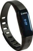 König Activity Tracker Bracelet Bluetooth 4.0 Black, KN-ACTBL10B