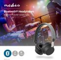Wireless Headphones, Nedis Fabric Bluetooth® Headphones | On-Ear | 18 Hours Playtime | Grey / Black, FSHP150GY