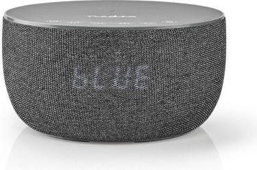 Nedis Bluetooth®-højttaler med trådløs opladning | 30 W | Op til 6 timers spilletid | Vækkeur | Grå,