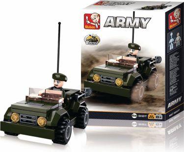 Sluban Byggeklodser Army Serie Jeep, M38-B0587F