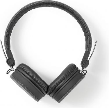 Nedis Fabric Wired Headphones | On-Ear | 1.2 m Audio Cable | Anthracite / Black, FSHP200AT