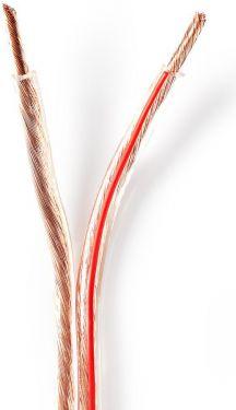 Nedis Højttalerkabel   2 x 4,00 mm2   100 m   Tromle   Gennemsigtig, CABR4000TR1000
