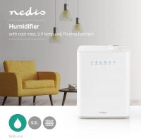Nedis Humidifier | 5.5 L | Touch Control | Ionisator, HUMI140CWT