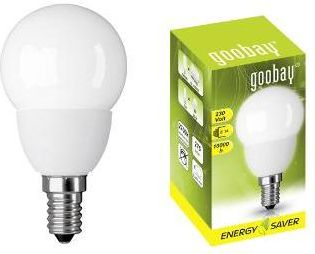 "<span class=""c9"">GOOBAY -</span> Goobay energisparepære E14 krone 5W / 230V, Varm Hvid"