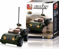 Sluban Building Blocks Army Serie Jeep, M38-B0587F