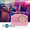 Nedis UKW-radio | 4.5 W | Bærehåndtag | Pink, RDFM5000PI