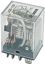JQX-13F Heavy duty relæ 24VDC / 10A, 2 x omskifter (DPDT)