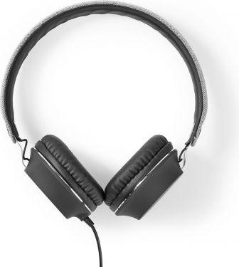 Nedis Kablede stofhovedtelefoner | On-ear | 1,2 m lydkabel | Grå/sort, FSHP100GY