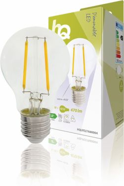 HQ LED Vintage glødelampe Dæmpbar A60 5.1 W 470 lm 2700 K, HQLFE27A60004