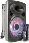 "FPS12 Portable Sound System 12"" BT/MP3/USB/SD/VHF/LED"