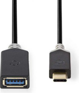 Nedis USB 3.0-kabel | Type-C-hanstik - A-hunstik | 0,15 m | Antracit, CCBP61710AT015
