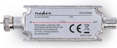 Nedis DVB-T / T2 LTE Filter | 694 - 862 MHz | Insertion loss: -2.7 dB, SFILLTE20ME