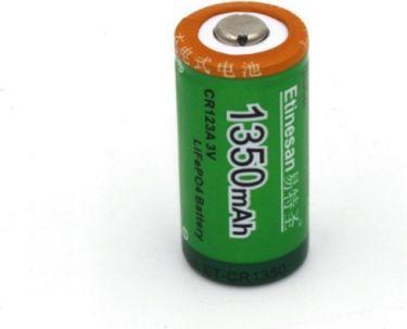 Genopladelig RCR123A (16340) LiION batteri 3V / 1350mAh
