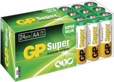 GP Alkaline Battery AA 1.5 V Super 24-Box, 03015AB24