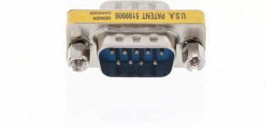 Valueline Serial Adapter D-SUB 9-Pin Male - D-SUB 9-Pin Male Metal, VLCP52811M