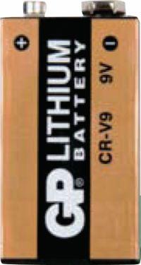 GP Lithium Batteri 9V 9 V 1-Bobler, 070CR9VC1