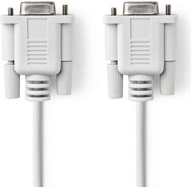 Nedis Serielt kabel | D-Sub-hunstik med 9 ben | D-Sub-hunstik med 9 ben | 3,0 m | Elfenben, CCGP5205