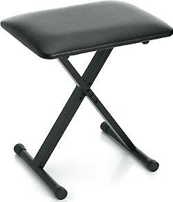 Keyboardbænk m. justerbar højde / sort
