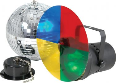 Disco light set 3 with 20cm mirrorball