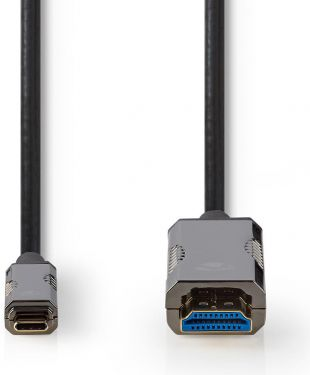Nedis USB Type-C™ Til HDMI™-Kabel | AOC | Type-C™ Hann – HDMI™-Kontakt | 20,0 m | Svart, CCBG6410BK2