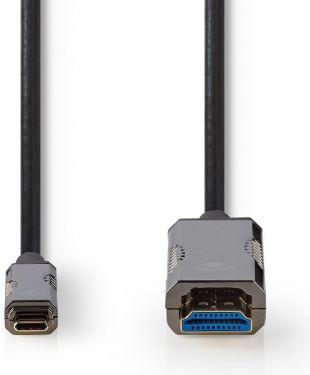 Nedis USB Type-C™ Til HDMI™-Kabel | AOC | Type-C™ Hann – HDMI™-Kontakt | 30,0 m | Svart, CCBG6410BK3