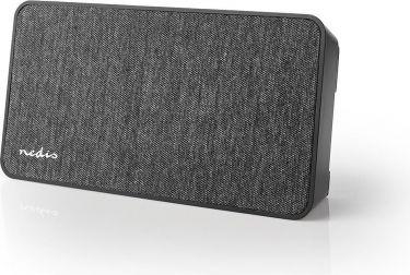 Nedis Bluetooth®-stofhøjttaler | 15 W | Op til 4 timers spilletid |Digitalur | Antracit/sort, FSBS11