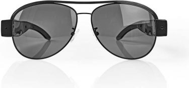 Nedis Spionkamerasolbriller | 1920 x 1080 video | 4032 x 3024 foto | Genopladelig, SPYCGL10BK
