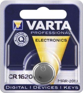 "<span class=""c10"">VARTA -</span> CR1620 Lithium knapcelle 3V / 60mAh (1 stk.)"