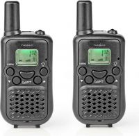 Nedis Walkie-Talkie | Range 5 km | 8 Channels | VOX | 2 Pieces | Black, WLTK0500BK