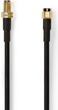 Nedis Antennekabel HSR-200 | SMA Hanstik - SMA Hunstik | 5,0 m | Sort, CSGP02400BK50