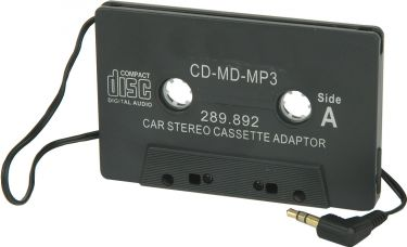 CD adapter, autoreverse kassetteradio, sort