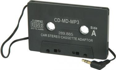 CD adaptor for standard car radio/cassette