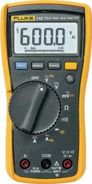 Fluke Digitalt multimeter FLUKE 115 TRMS AC 6000 Cifre 600 VAC 600 VDC 10 ADC, FLUKE 115