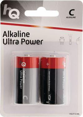 HQ Alkaline Batteri C 1.5 V 2-Bobler, HQLR14/2BL