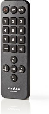 Nedis Universal Remote Control | Large Buttons | Preprogrammed | Control 2 Devices, TVRC21SNBK