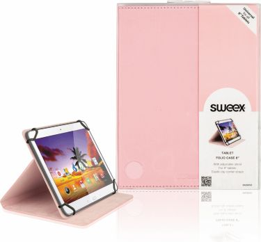 "Sweex Tablet Folio Case 8"" / Universal Pink, SA324V2"