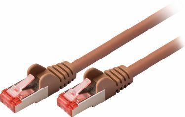 Valueline Cat6 S / Ftp Netværkskabel RJ45 (8P8C) Han - RJ45 (8P8C) Han 10.0 m Brun, VLCP85221N100