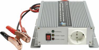 HQ Power Inverter Modified Sine Wave 12 VDC - AC 230 V 600 W French, HQ-INV600C/12F