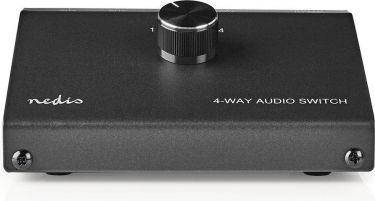 Nedis Analog lydkontakt | 3,5 mm hunstik + 3 x (2 x RCA-hunstik) - 2 x RCA-hunstik | Sort, ASWI2404B