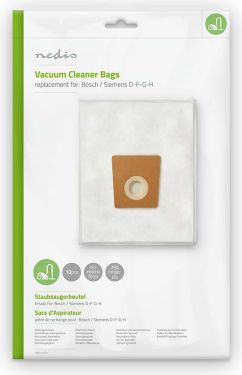 Nedis Vacuum Cleaner Bag | Suitable for Bosch / Siemens D-F-G-H, DUBG121SIB10